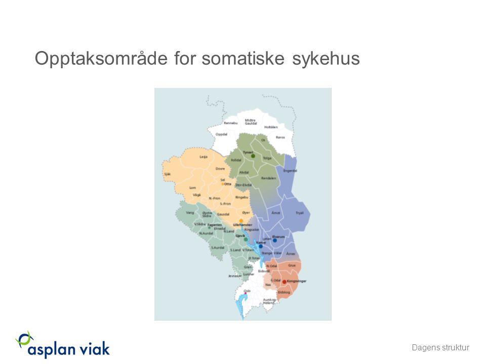 Opptaksområde for somatiske sykehus