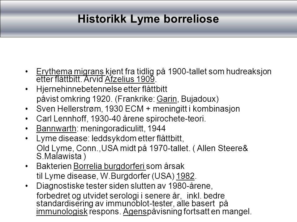 Historikk Lyme borreliose