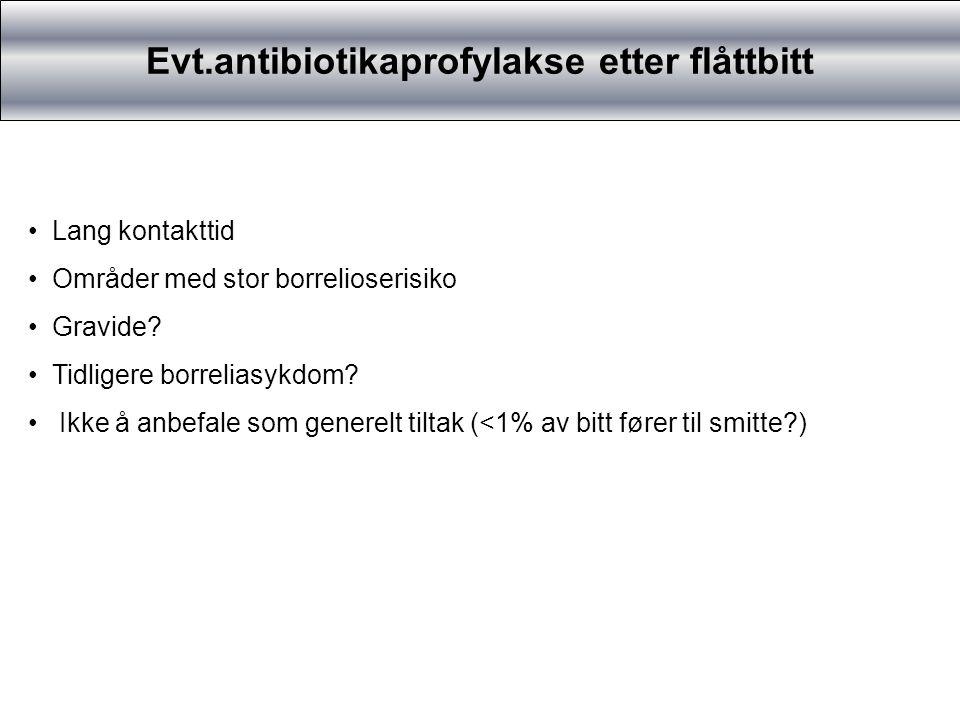 Evt.antibiotikaprofylakse etter flåttbitt