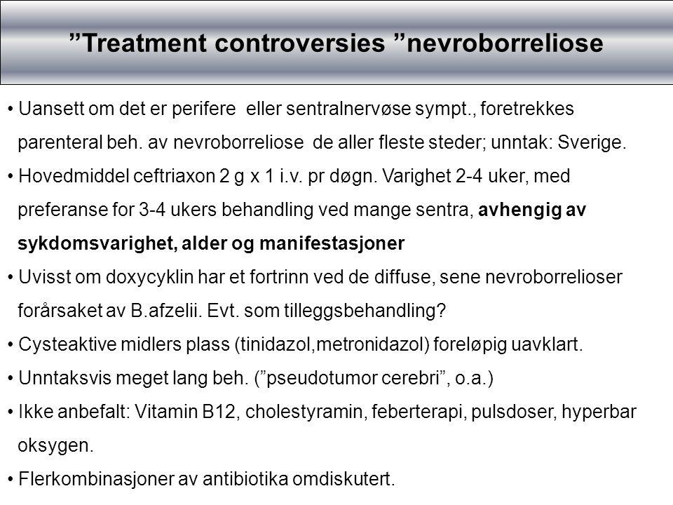 Treatment controversies nevroborreliose