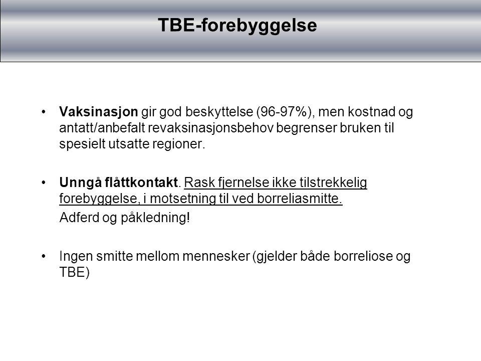 TBE-forebyggelse TBE-vaksinasjon