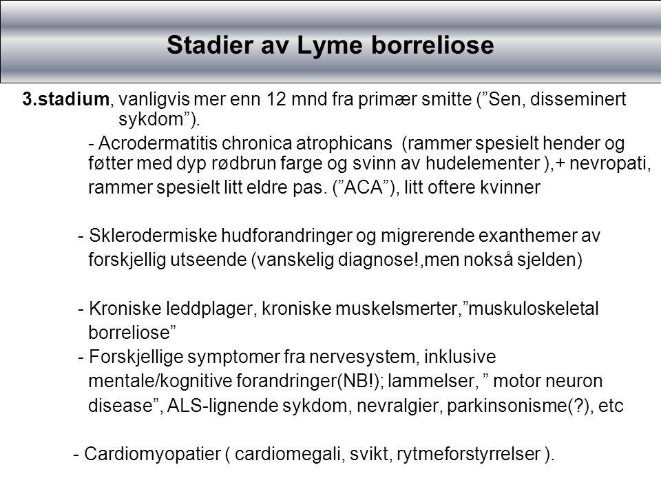 Stadier av Lyme borreliose