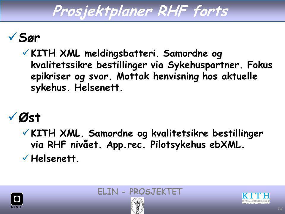Prosjektplaner RHF forts