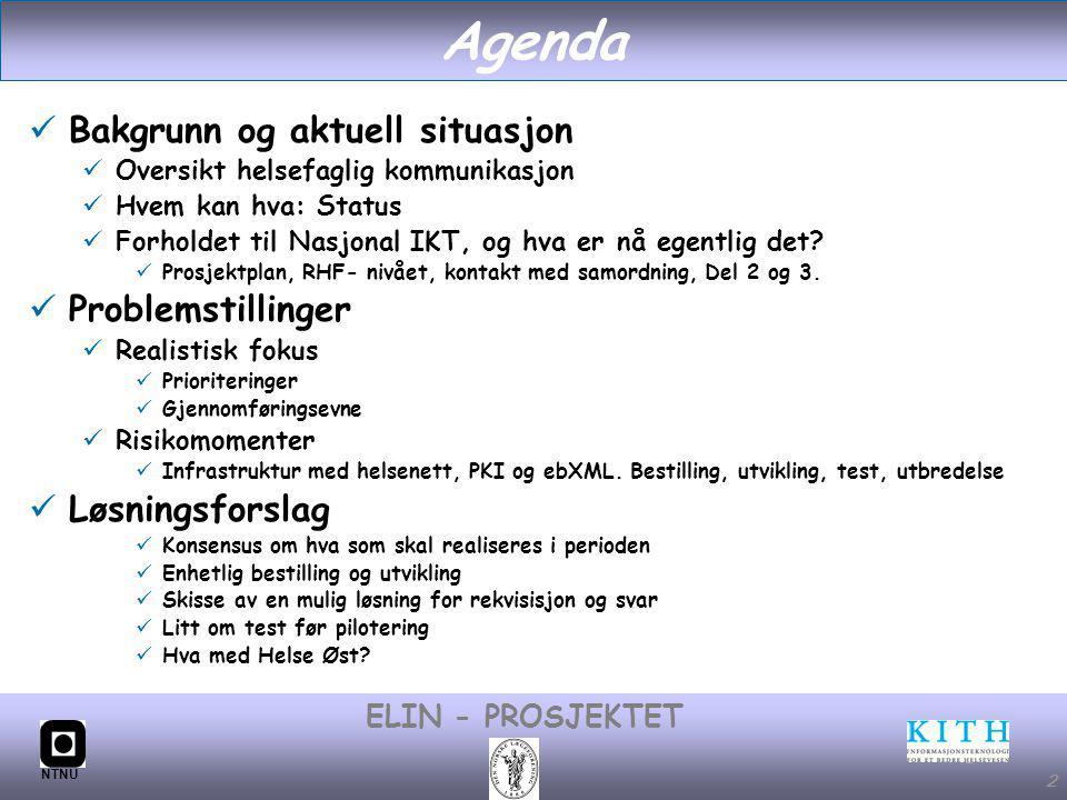 Agenda Bakgrunn og aktuell situasjon Problemstillinger Løsningsforslag
