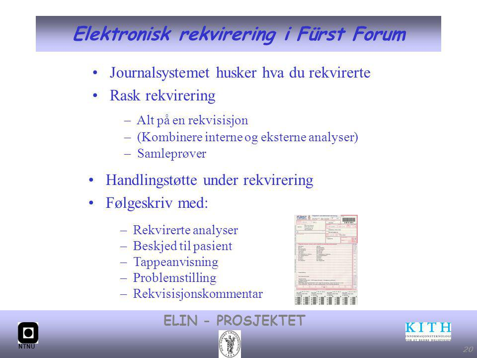 Elektronisk rekvirering i Fürst Forum