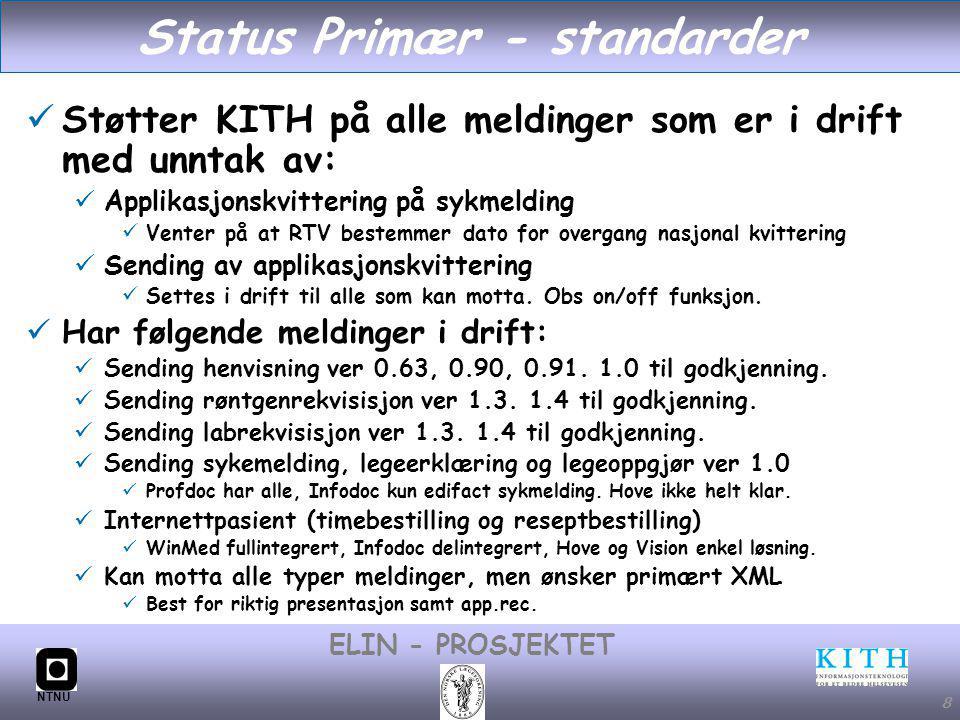 Status Primær - standarder