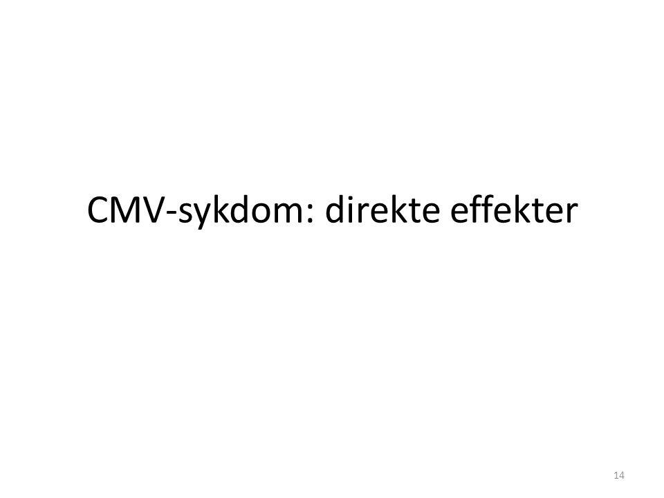 CMV-sykdom: direkte effekter