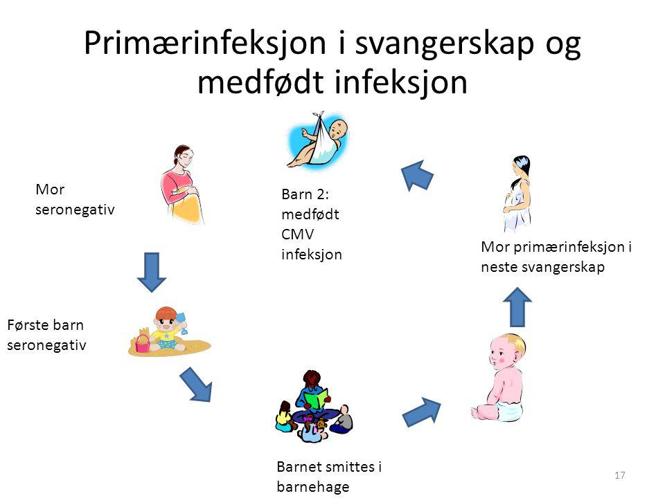 Primærinfeksjon i svangerskap og medfødt infeksjon