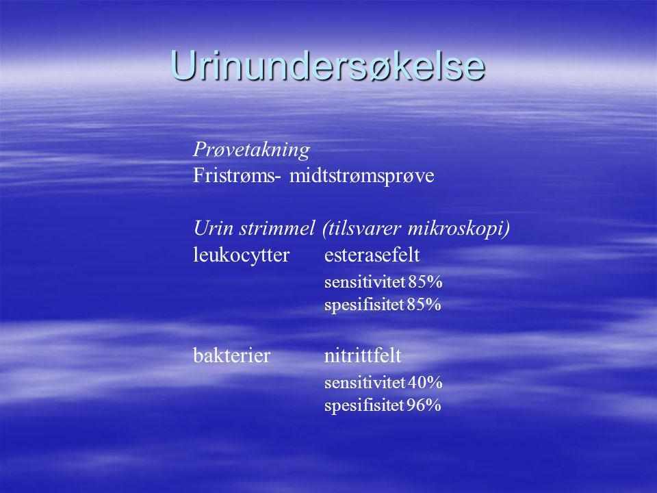 Urinundersøkelse Prøvetakning Fristrøms- midtstrømsprøve