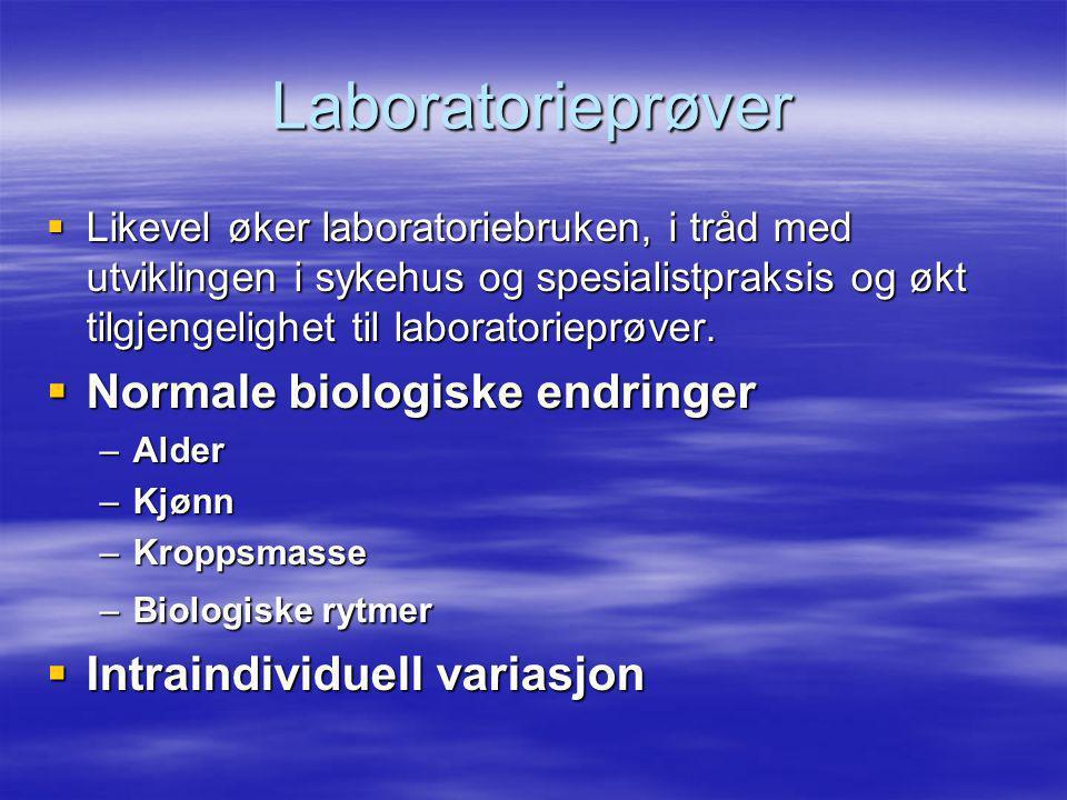Laboratorieprøver Normale biologiske endringer