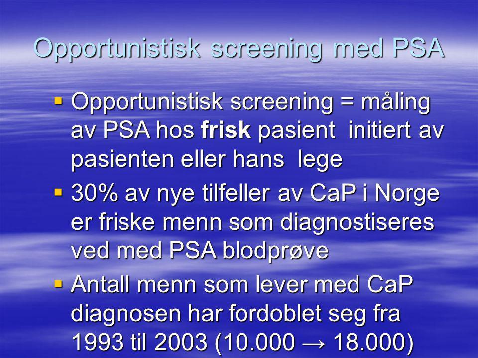 Opportunistisk screening med PSA