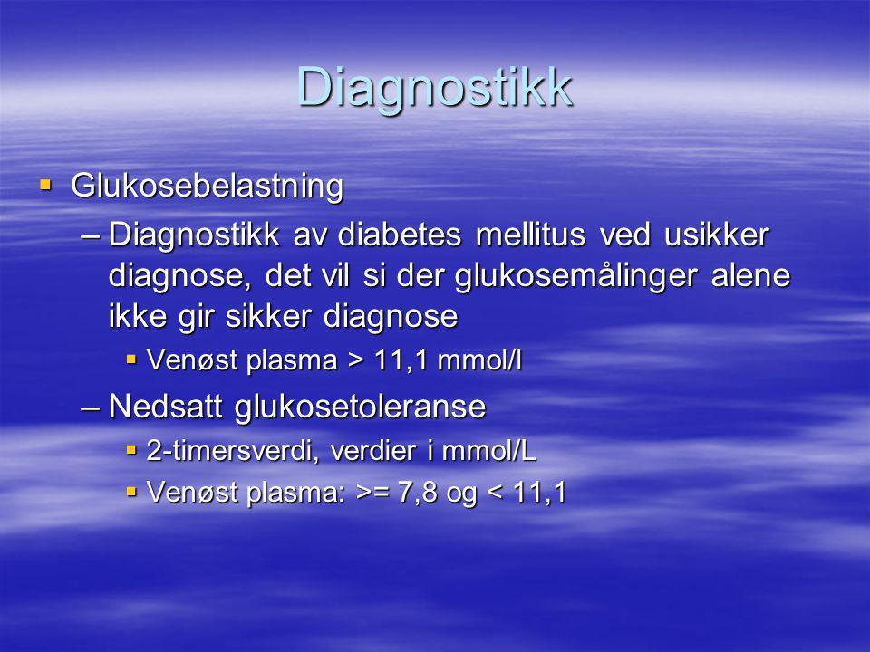 Diagnostikk Glukosebelastning