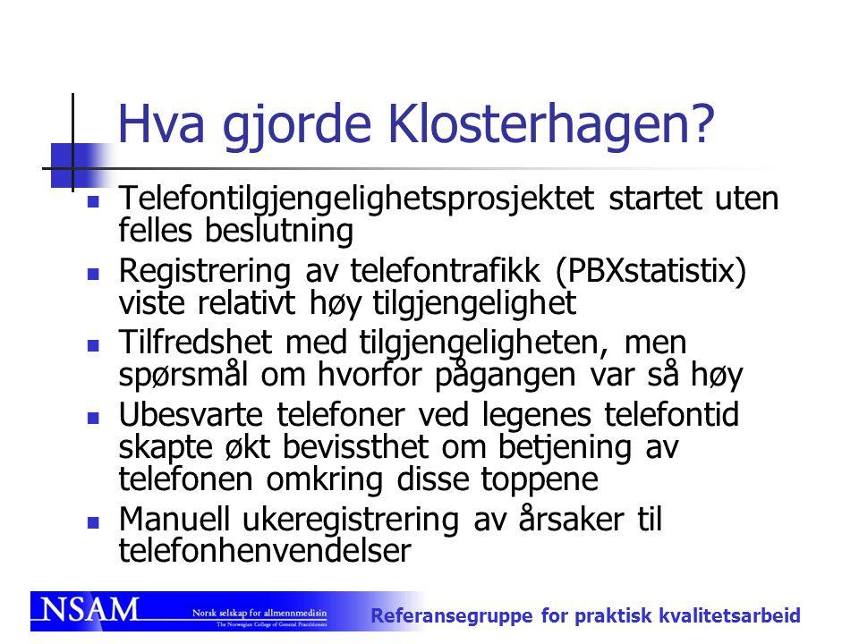 Hva gjorde Klosterhagen