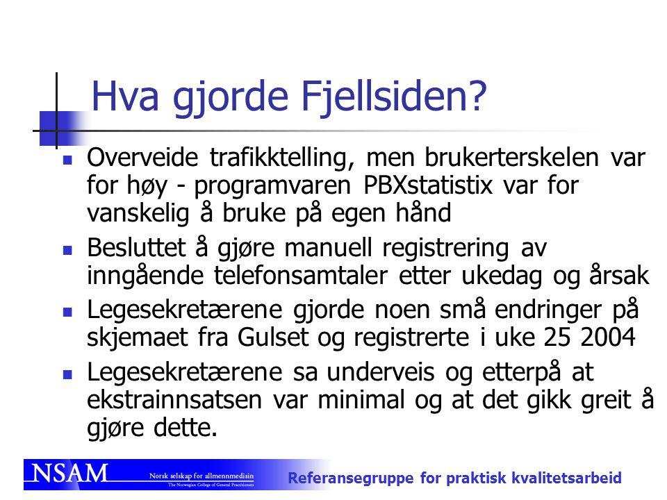 Hva gjorde Fjellsiden Overveide trafikktelling, men brukerterskelen var for høy - programvaren PBXstatistix var for vanskelig å bruke på egen hånd.