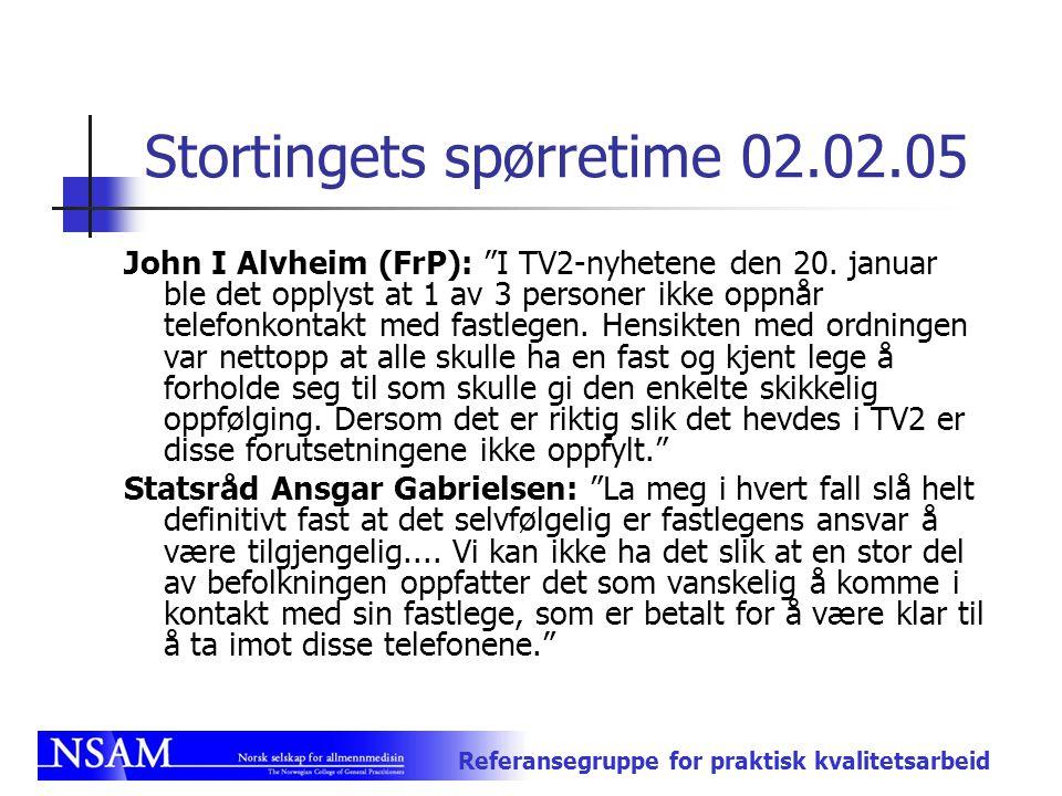 Stortingets spørretime 02.02.05