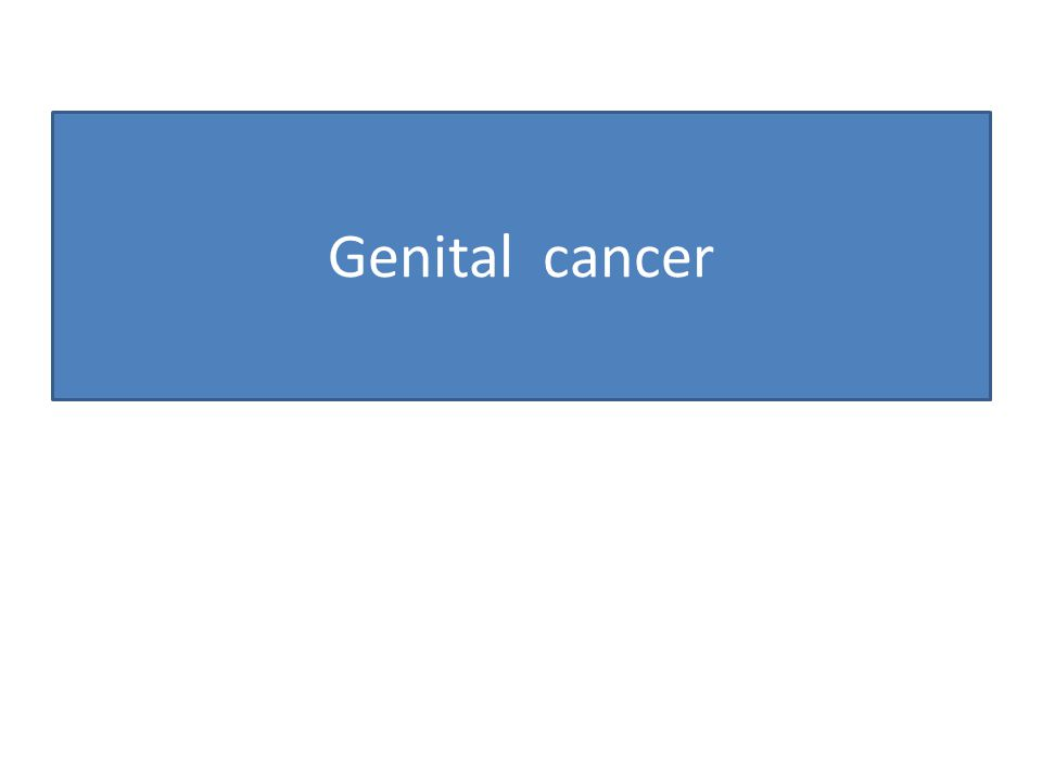 Genital cancer