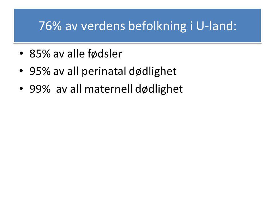 76% av verdens befolkning i U-land:
