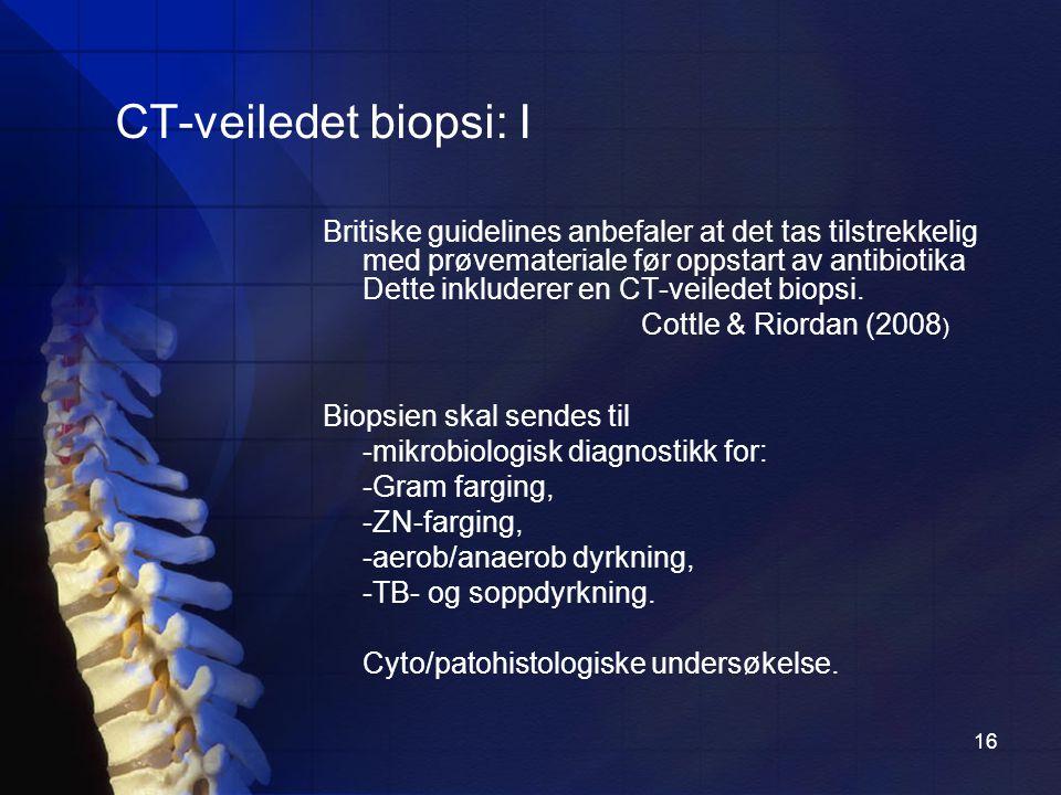 CT-veiledet biopsi: I