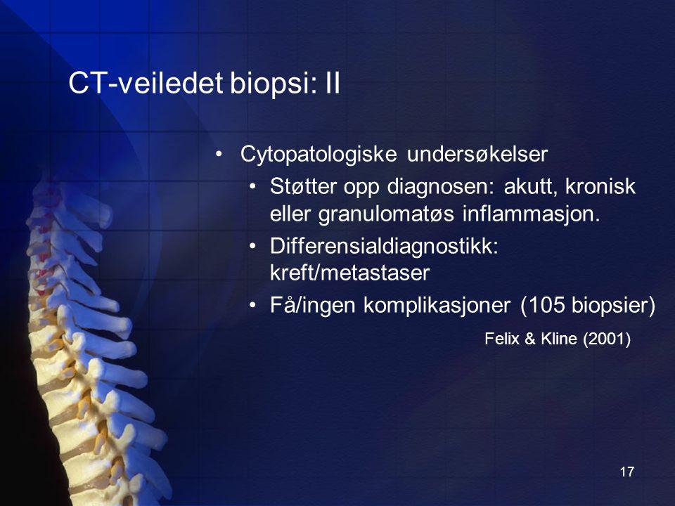 CT-veiledet biopsi: II