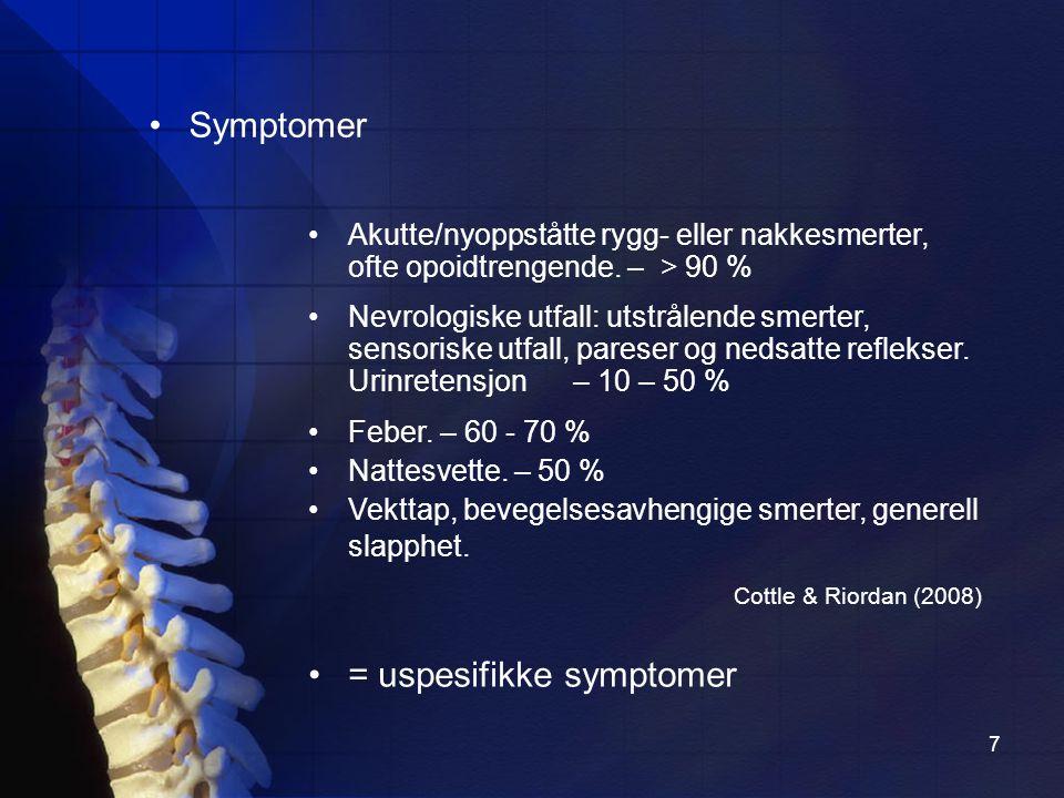 = uspesifikke symptomer