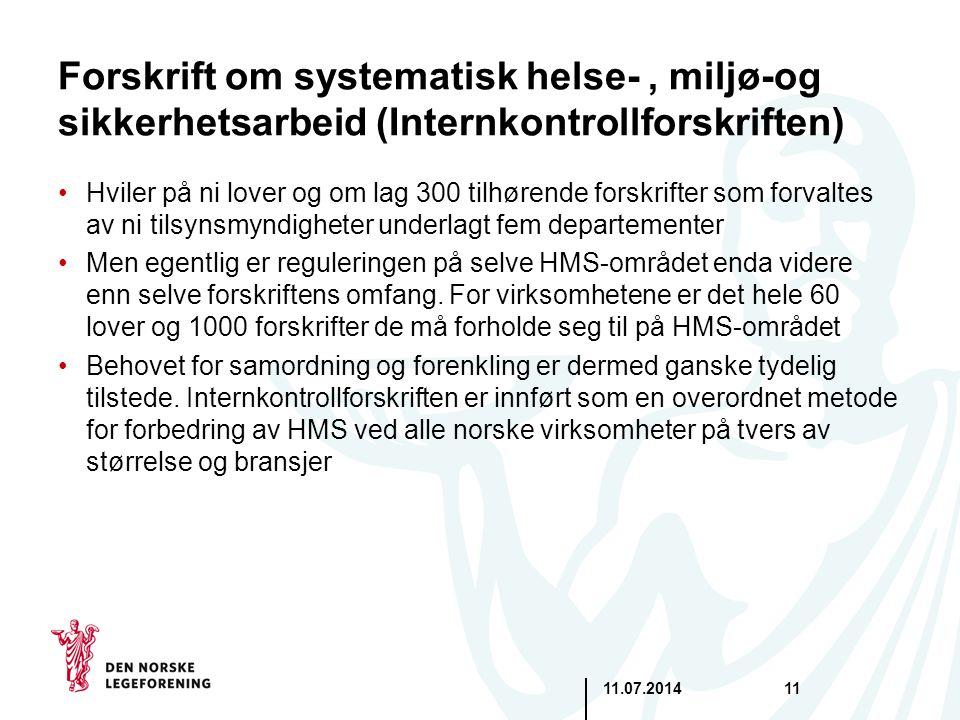 Forskrift om systematisk helse- , miljø-og sikkerhetsarbeid (Internkontrollforskriften)