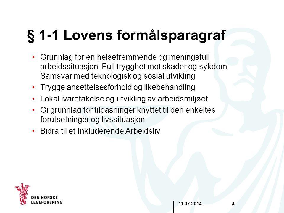 § 1-1 Lovens formålsparagraf
