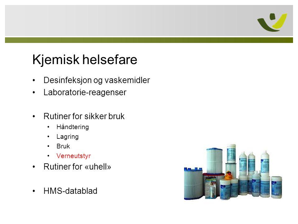 Kjemisk helsefare Desinfeksjon og vaskemidler Laboratorie-reagenser