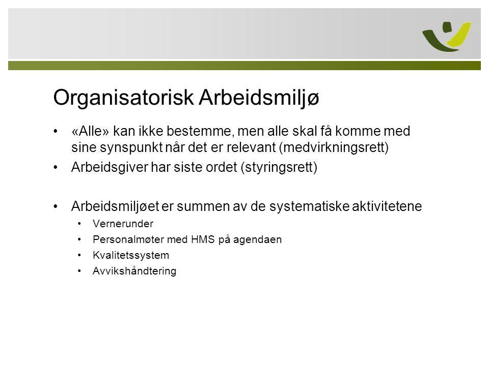 Organisatorisk Arbeidsmiljø