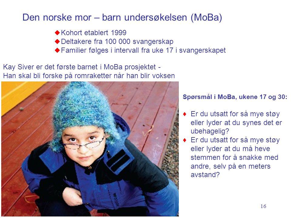 Den norske mor – barn undersøkelsen (MoBa)