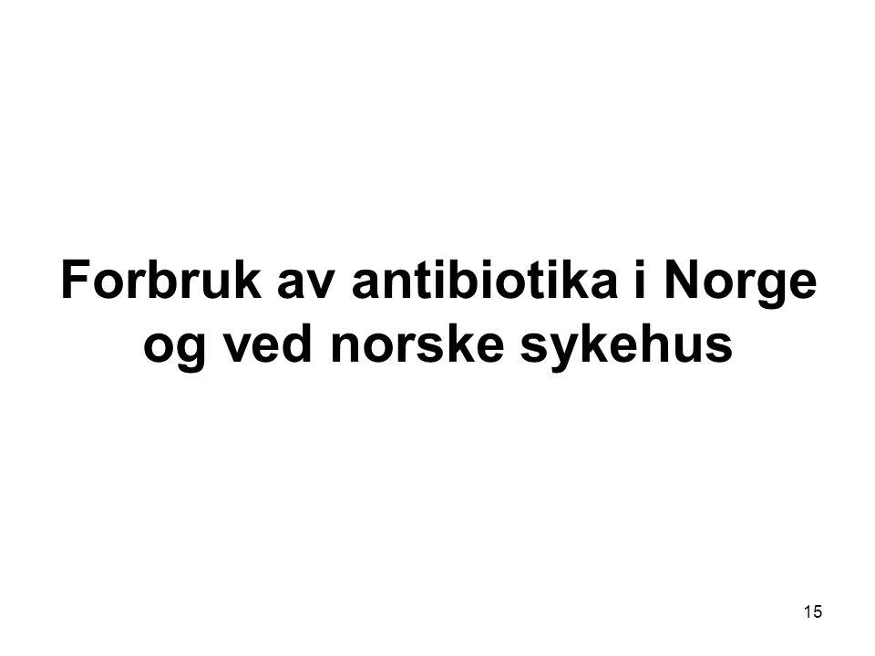 Forbruk av antibiotika i Norge og ved norske sykehus