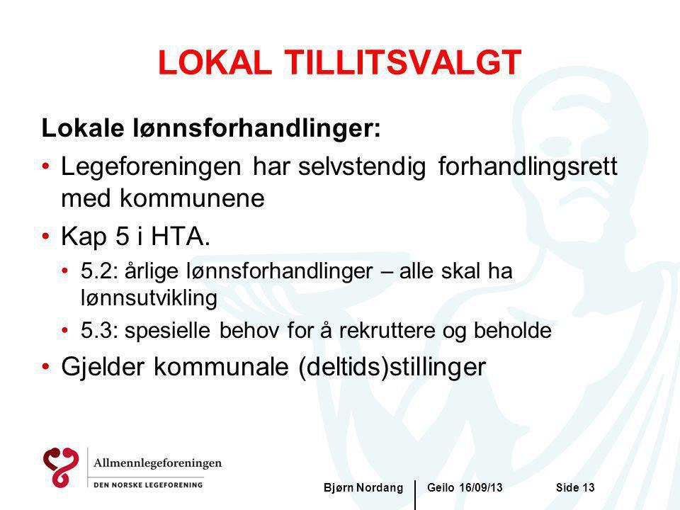 LOKAL TILLITSVALGT Lokale lønnsforhandlinger: