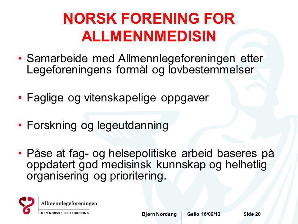 NORSK FORENING FOR ALLMENNMEDISIN