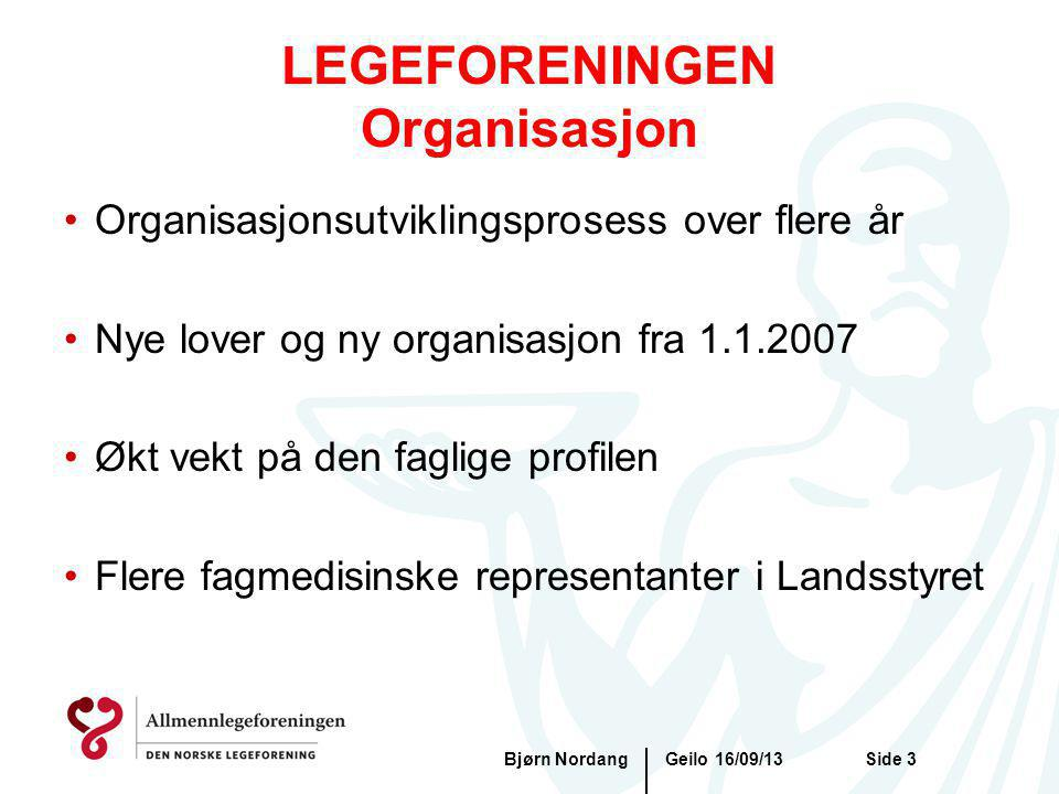 LEGEFORENINGEN Organisasjon