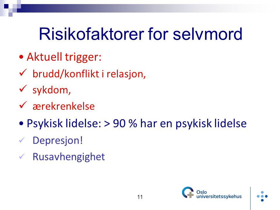 Risikofaktorer for selvmord