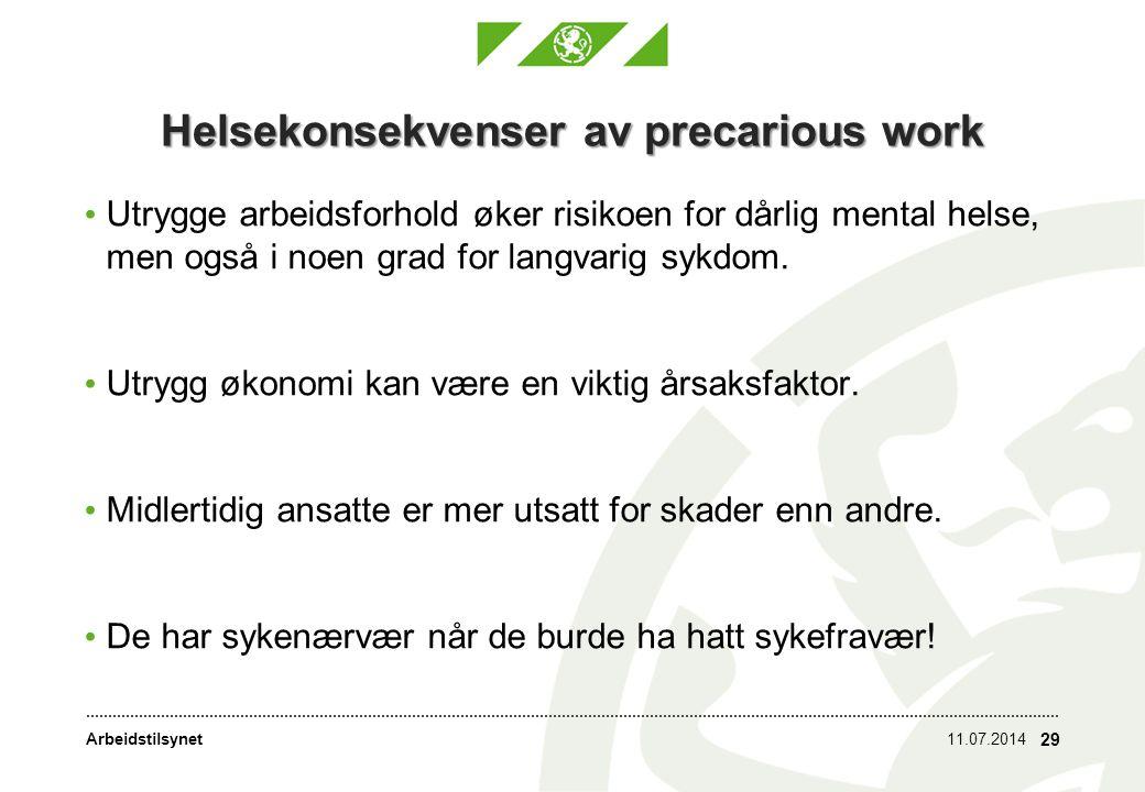 Helsekonsekvenser av precarious work