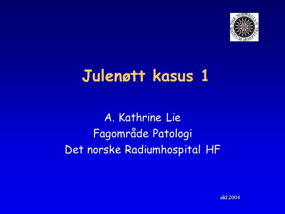 A. Kathrine Lie Fagområde Patologi Det norske Radiumhospital HF