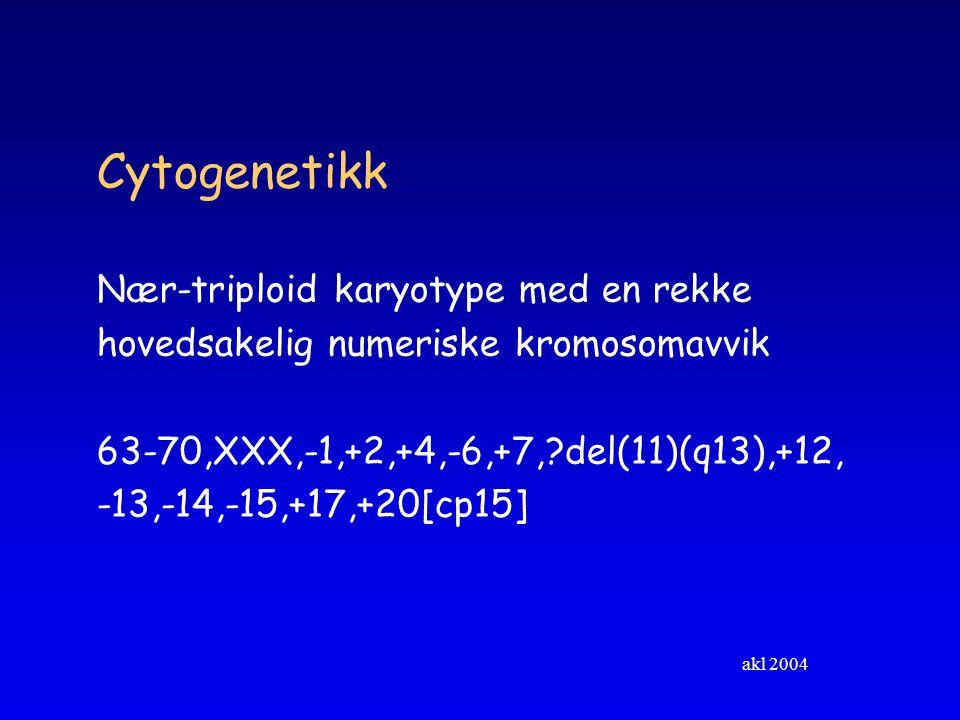 Cytogenetikk Nær-triploid karyotype med en rekke