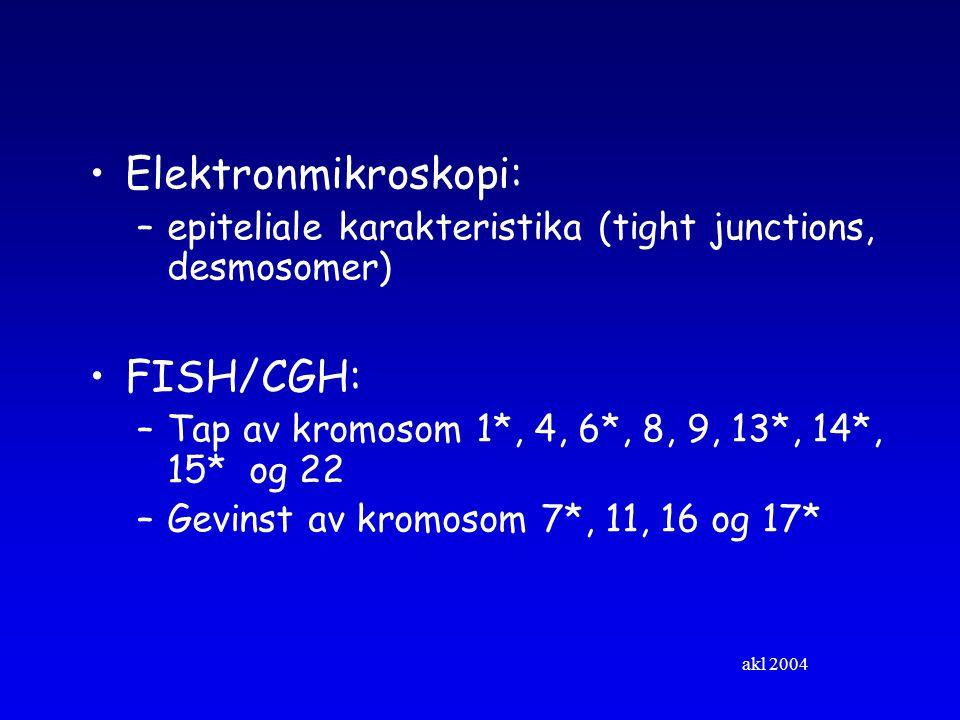 Elektronmikroskopi: FISH/CGH: