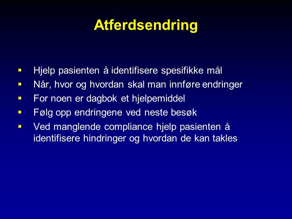 Atferdsendring Hjelp pasienten å identifisere spesifikke mål
