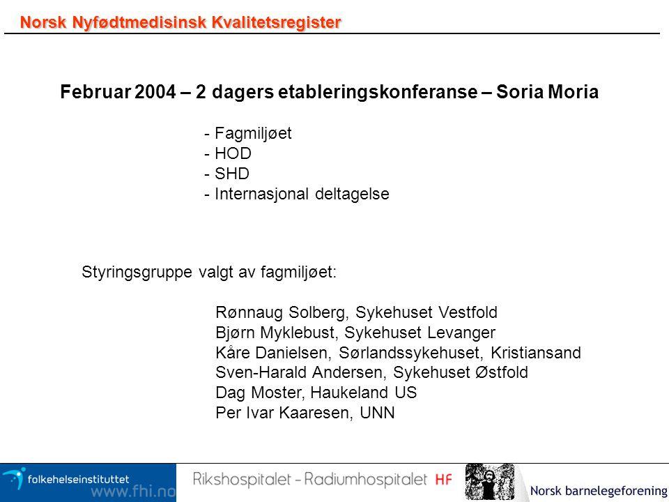Februar 2004 – 2 dagers etableringskonferanse – Soria Moria