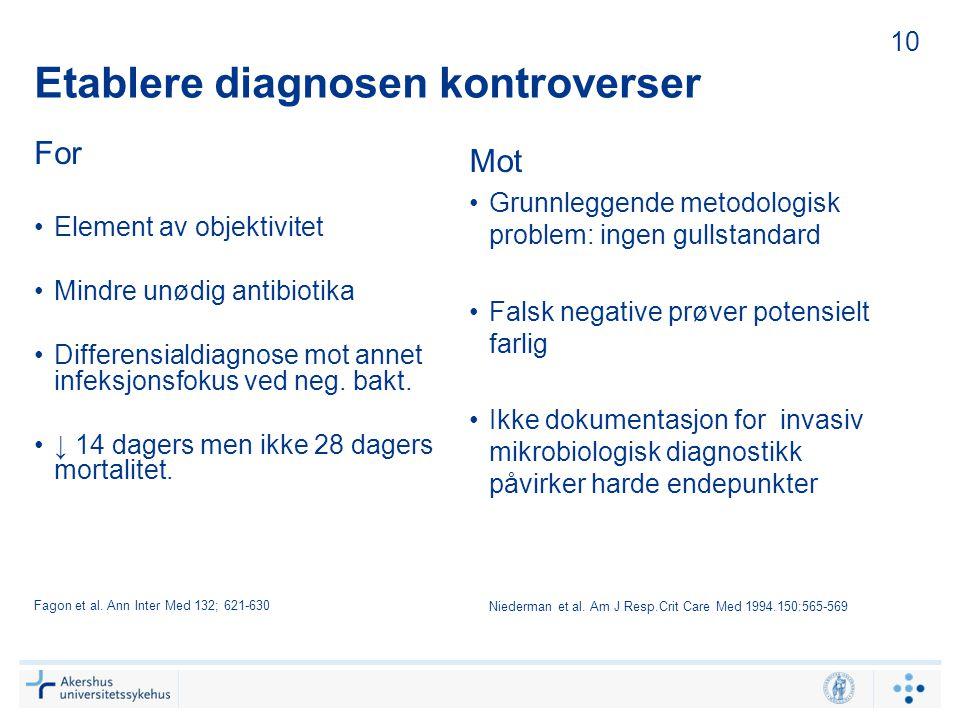 Etablere diagnosen kontroverser