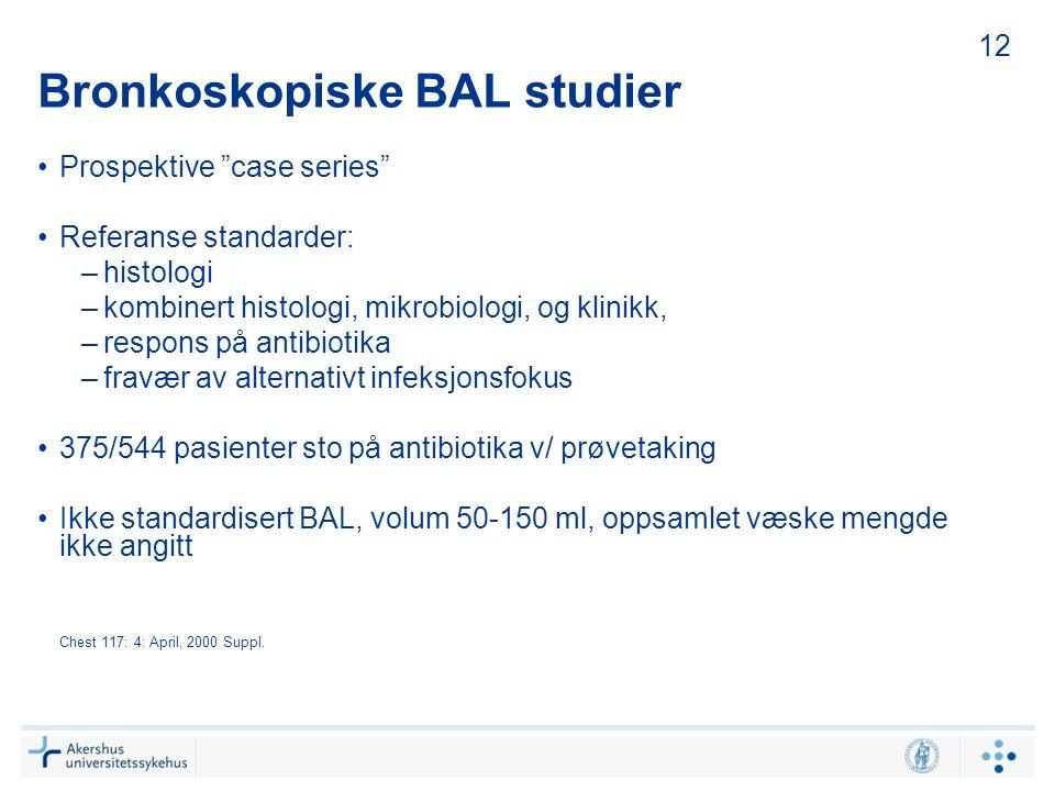 Bronkoskopiske BAL studier