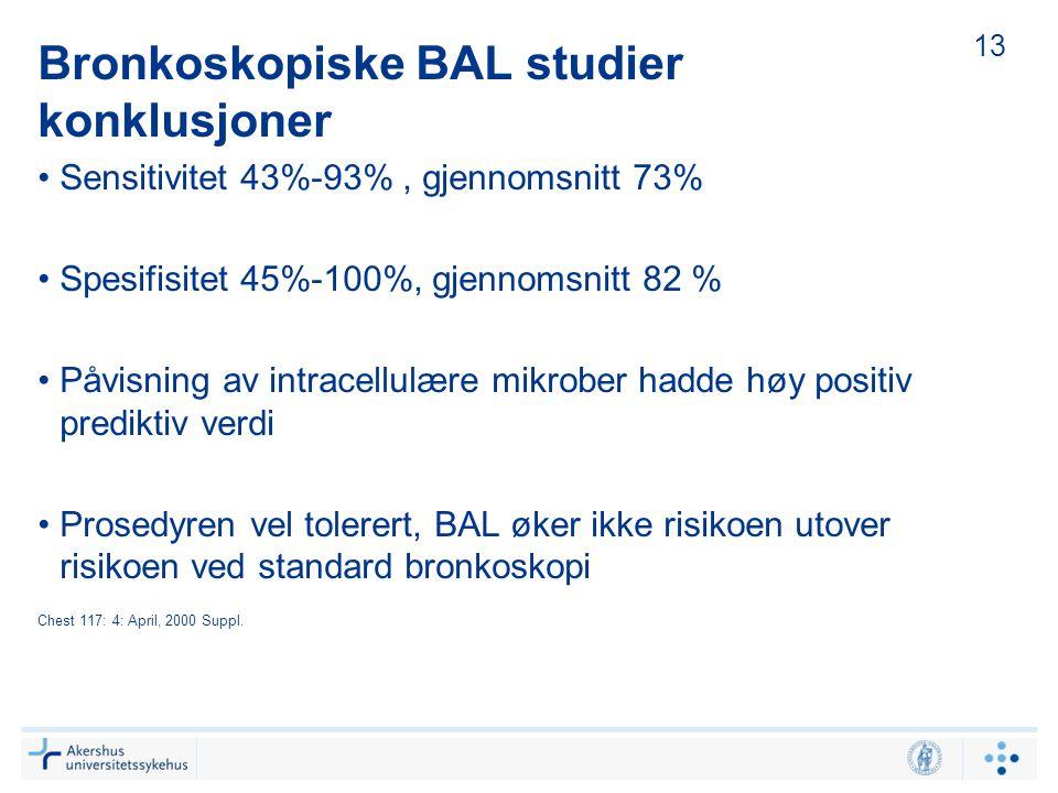 Bronkoskopiske BAL studier konklusjoner
