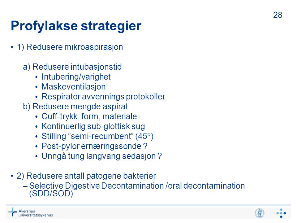 Profylakse strategier