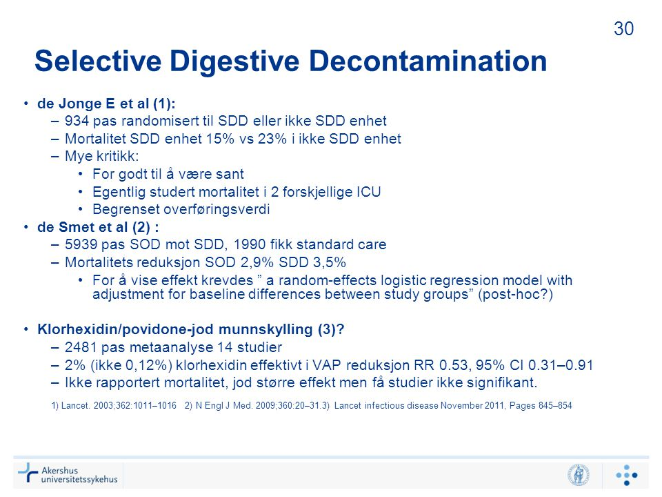 Selective Digestive Decontamination