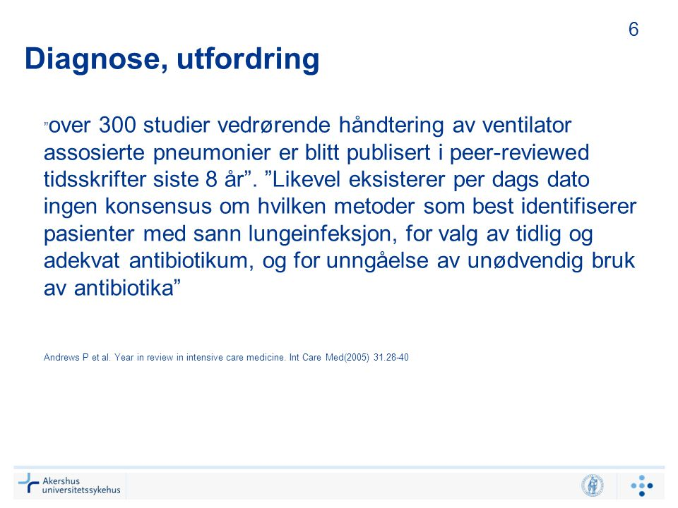 6 Diagnose, utfordring.