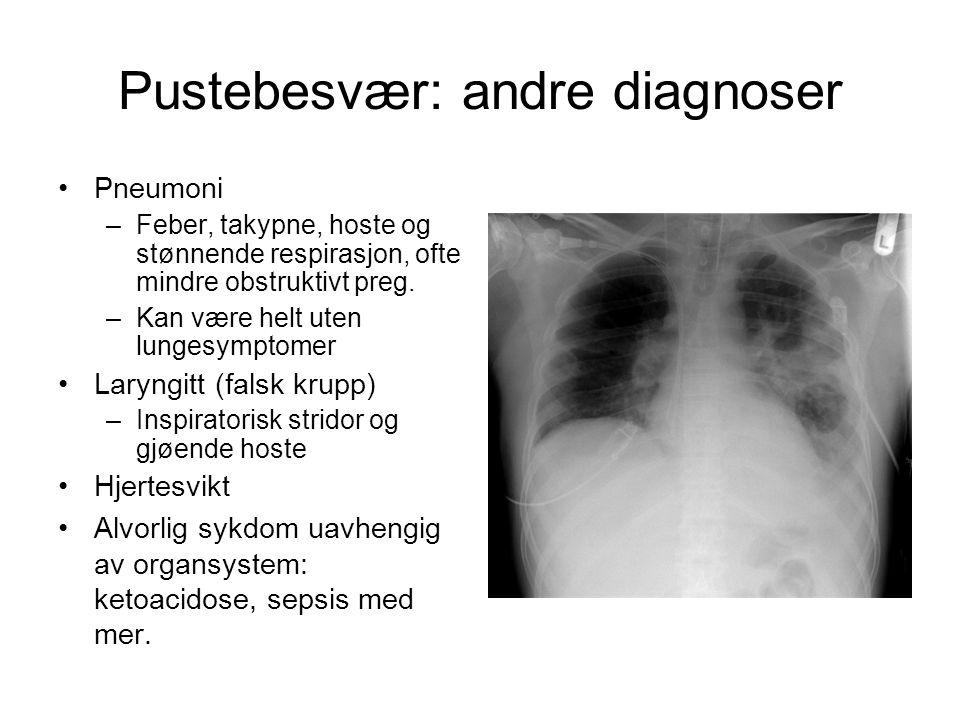 Pustebesvær: andre diagnoser