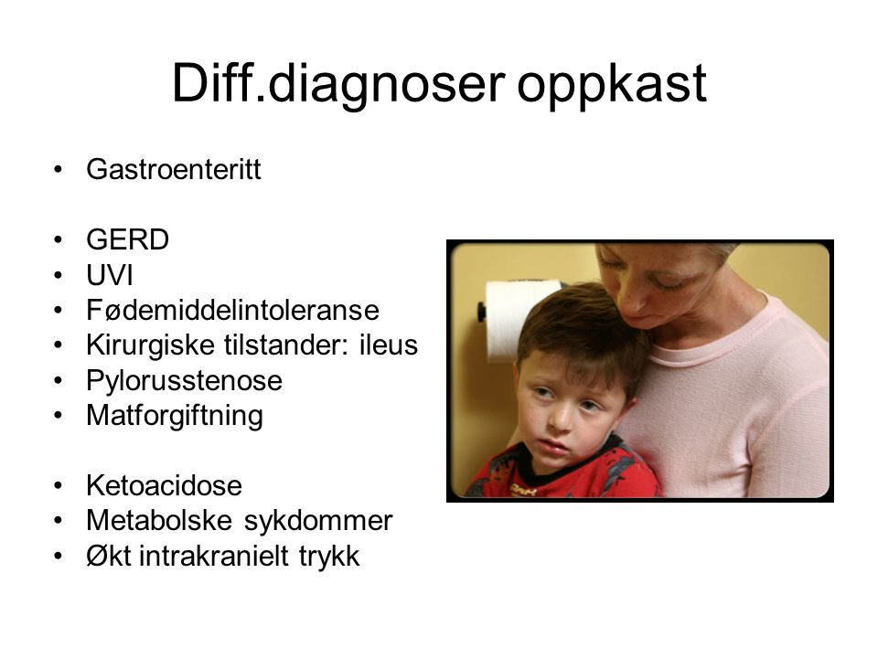 Diff.diagnoser oppkast