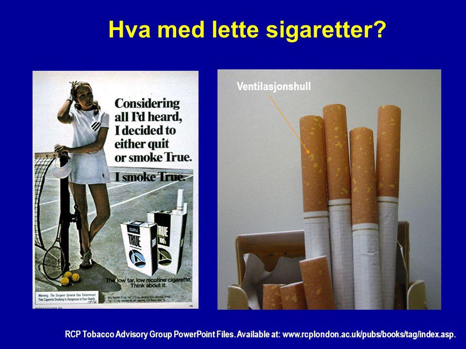 Hva med lette sigaretter