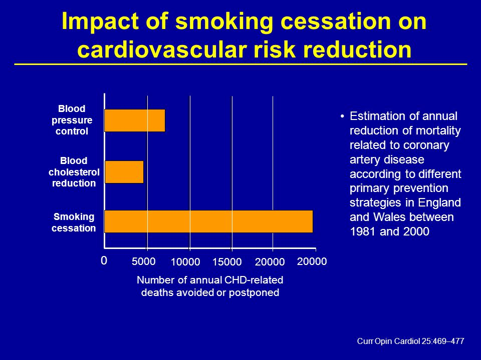 Impact of smoking cessation on cardiovascular risk reduction